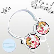 Tai nghe Sakura thủ lĩnh thẻ bài anime chibi thiết kế thông minh cá tính cắm dây có mic thumbnail