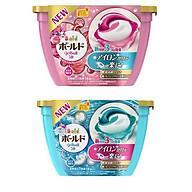 Combo 2 hộp 18 viên nước giặt xả hương hoa màu xanh + hồng nội địa Nhật Bản thumbnail