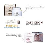 Bộ sản phẩm tẩy da chết, dưỡng trắng da Acosmetics (Kem body mềm và Muối tẩy tế bào chết cafe chồn) thumbnail