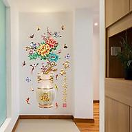 Decal dán tường trang trí Tết chào xuân- Bình hoa mẫu đơn- DSK2019B thumbnail