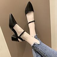 Giày Bít Mũi Khoét V da 5p Hàng Thiết Kế Cực Đẹp Kèm Ảnh Thật thumbnail