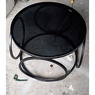 Bàn sofa kính hiện đại hình tròn Juno Sofa thumbnail