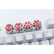 Keycap chân mèo họa tiết đốm trang trí bàn phím cơ gaming thumbnail