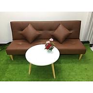 Ghế dài sofa bed và bàn tròn nội thất phòng khách- SB16--Simili--Nâu thumbnail