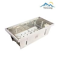 Bếp nướng than chống gỉ BBQ Mini BBQ HomeCook - Thiết kế gấp gọn siêu tiện dụng - Inox 304 bóng và bền - 42x21cm thumbnail
