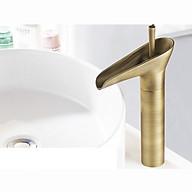 Vòi rửa lavabo nghệ thuật VOI004 Mô hình ống đồng tối giản thumbnail