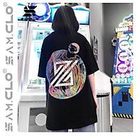 Áo phông tay lỡ nữ freesize Unisex thun form rộng, mặc cặp, lớp, nhóm in CHỮ Z hình cầu THE ZED thumbnail