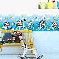 Decal dán tường trang trí lớp mầm non, phòng học cho bé- Chân tường Doremon- mã sp DAY7182 thumbnail