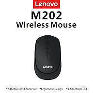 Lenovo M202 2.4GHz Wireless Mouse Office Mouse 4 Keys Mute Mice Ergonomic Design with 3 Adjustable DPI for PC Laptop thumbnail