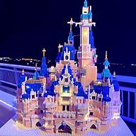 ( Có đèn+ hộp) Xếp hình lắp ráp tòa lâu đài thumbnail