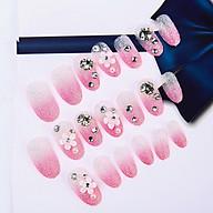 Bộ 24 móng tay giả đính đá (SHA014) kèm thun lò xo cột tóc màu ngẫu nhiên tiện lợi ( Mẫu mới ) thumbnail