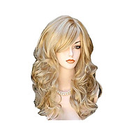KW-004 High-temperature Synthetic Fiber Wigs Heat Resistant Long Hairpiece Hair Wig for Women Wavy Curly Hair Full Wigs thumbnail