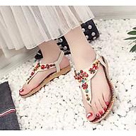 Giày Sandal Quai Kẹp Da Cao Cấp Kiểu Thổ Cẩm NineRed DTT006 thumbnail