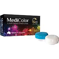 [Một cặp] Kính Áp Tròng Australia Màu Đen 0 độ Mediclear 3 Tháng - Lens Màu Đen (Black) + Khay Đựng thumbnail