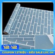 10m Giấy dán tường gạch xanh C0049B thumbnail