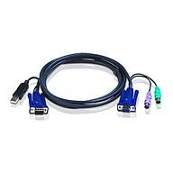 Cáp kết nối KVM chuẩn USB Aten 2L-5503UP dài 3 mét, tích hợp chuyển đổi PS 2 to USB - Hàng chính hãng thumbnail