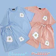 Sét Bộ Đồ Nam Nữ Mặc nhà, Đi Chơi Dạo Phố, Mặc Ở Nhà Chất Liệu Cotton Mềm Mịn Mát, Phong Cách Teen Hàn Quốc, đồ bộ in trứng mới về, đồ bộ mặc nhà mùa hè nam nữ thumbnail