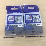Combo 02 cuộn nhãn TZ2-231 tiêu chuẩn - Chữ đen trên nền trắng 12mm - Hàng nhập khẩu thumbnail
