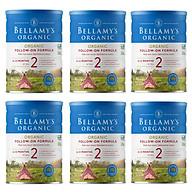 6 Lon Sữa Bột Bellamy s Organic Số 2 (900g) thumbnail