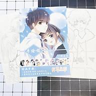 Tranh tô màu Con tim rung động tập bản thảo phác họa anime manga chibi tặng thẻ Vcone thumbnail