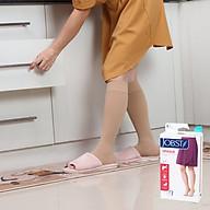 Vớ y khoa JOBST Opaque - Mỏng Hỗ Trợ Điều Trị giãn tĩnh mạch chân, 20-30 mmHg (vớ gối, màu da) (tất y khoa) thumbnail