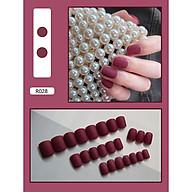 Bộ 24 móng tay giả (R028) tặng kèm thun lò xo cột tóc màu đen tiện lợi thumbnail
