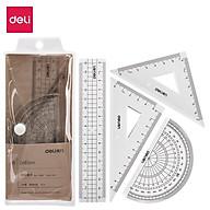 Bộ dụng cụ eke thước đo độ học sinh Deli - 1 bộ - 71988 thumbnail