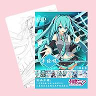 Tranh tô màu Hatsune Miku tập bản thảo phác họa anime manga chibi thumbnail