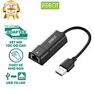 Thiết Bị Chuyển Đổi Ethernet Adapter ROBOT EA10 USB 2.0 To LAN Tốc Độ 10 100Mbps - Hàng Chính Hãng thumbnail