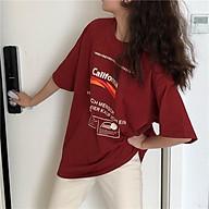 Áo thun nữ tay lỡ SAM CLO freesize phông form rộng dáng Unisex, mặc cặp, nhóm, lớp in chữ CALIFORNIA thumbnail