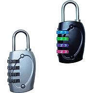 Bộ 2 ổ khóa mật mã nhỏ cho vali, balo, túi, cặp xách loại 4 số TK042 thumbnail