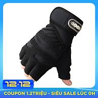 Bộ 2 găng tay tập gym có dây cuốn bảo vệ cổ tay kết hợp (size L) thumbnail