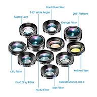 11-in-1 Lens Set Multifunctional Fisheye Wide-angle Micro Polarized Starlight Filter Universal Mobile Phone Lens thumbnail