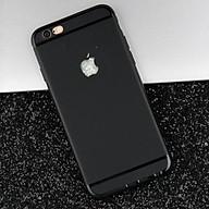 Ốp lưng nhựa dẻo silicon đen trơn cho iphone 6, 6S thumbnail