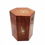 Hộp Đựng Chè Khảm Hoa Văn Cao 14cm Hai Wood thumbnail