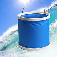 Thùng đựng nước gấp gọn có nắp màu xanh đa dung tích thumbnail