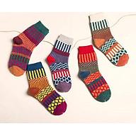Bộ 5 đôi tất nữ cao cổ len Thổ cẩm - Hàng cao cấp thumbnail