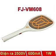 Vợt Muỗi điện Fujika FJ-VM608 806 903 dung lượng pin 500-600MAH lưới kim loại, màu ngẫu nhiên-Hàng chính hãng thumbnail