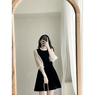 Váy suông nữ,đầm suông nữ cổ bèo tay voan chất umi thumbnail