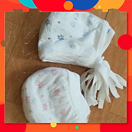 Mũ cho bé sơ sinh, loại mỏng, có dây buộc thumbnail