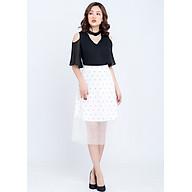 Chân váy công sở ren xòe LAMER L62L18Q001-D1514 ( Trắng ) thumbnail
