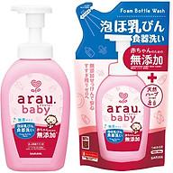 Nước Rửa Bình Sữa ARAU BABY NHẬT Chai 500ml Túi450ml thumbnail