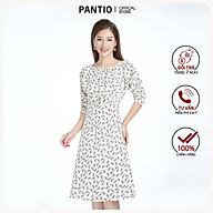 Đầm công sở lụa mờ họa tiết tay lỡ FDC72845 - PANTIO thumbnail