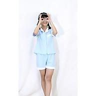 Bộ ngủ, đồ mặc nhà phối viền cho BÉ GÁI và BÉ TRAI vải lụa cao cấp 0230 thumbnail