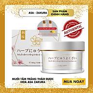 Combo 2 Muối tắm trắng thảo dược Asa Zakura - 100% hoàn toàn tự nhiên an toàn cho mọi loại da thumbnail