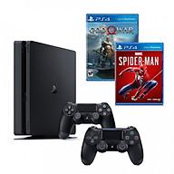 Bộ playstation 4 slim ( 500gb) tặng kèm 2 đĩa game spider-man và godofwar 4 + 1 tay cầm thêm - chính hãng thumbnail
