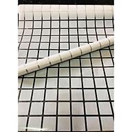 5m decal dán kính ô vuông trắng lớn có sẵn keo Binbin DK34 thumbnail