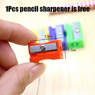 Plastic Small Square Pencil Sharpener Smooth Surface Sharp Core Use Effort thumbnail