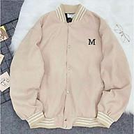 Áo khoác cardigan thun nỉ ngoại logo chữ M unisex siêu cute thumbnail