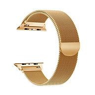 Replaceable Stainless Steel Watch Band Milanese Magnetic Buckle Strap Compatible with Apple Watch 2 3 4 5 6 se 42 44mm thumbnail